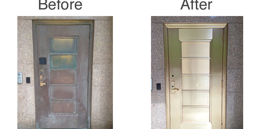 before-after-brass-door
